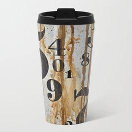 Numeric Values: Crude Figures Metal Travel Mug