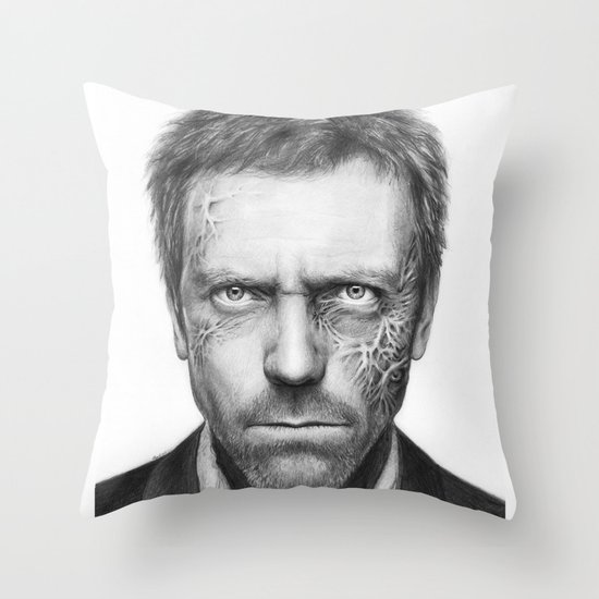 Hugh Laurie from House MD Doctor House Throw Pillow