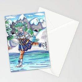 Miku on Ice Stationery Cards