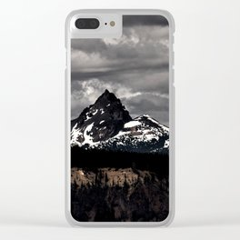Living Black & White Clear iPhone Case