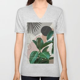 Ficus Fan Palm Finesse #1 #tropical #decor #art #society6 Unisex V-Neck