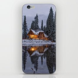 Cabin in Winter Woods (Color) iPhone Skin