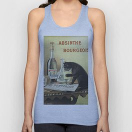 Vintage poster - Absinthe Bourgeois Unisex Tank Top