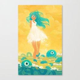 Squid Girl Canvas Print