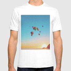 Parachutes MEDIUM Mens Fitted Tee White