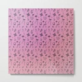 Spoopy Pattern Metal Print