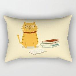 Nerdy Cat Rectangular Pillow