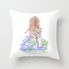 Tiger Oasis Throw Pillow