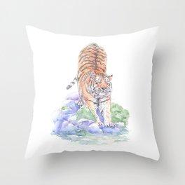 Tiger Oasis Throw Pillow