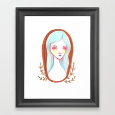 Blue Haired Forest Nymph Framed Art Print