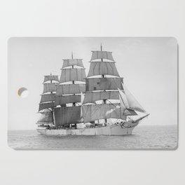 Vintage Ship Art Cutting Board