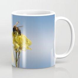 Honey bee on a wildflower Coffee Mug