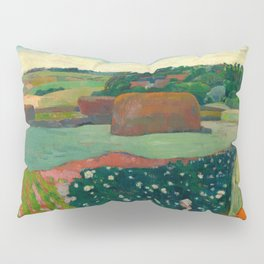 "Paul Gauguin ""Les meules ou Le Champ de pommes de terre or Haystacks in Brettany"" Pillow Sham"