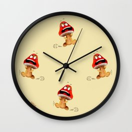 LA VIE DES CHAMPIGNONS Wall Clock