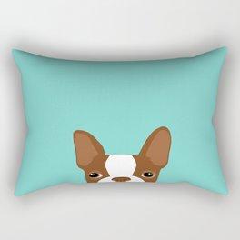 Red Boston Terrier Rectangular Pillow