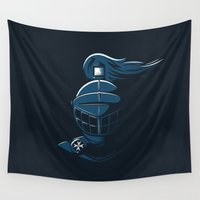 knight Wall Tapestries featuring Knight Time by Aaron Synaptyx Fimister