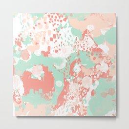 Poppy - minimal trendy gender neutral bright happy color palette nursery art Metal Print