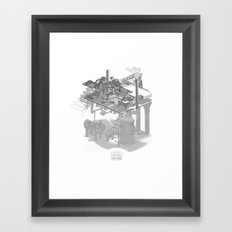 Fully Automatic Steam-Powered Screen Printing Machine Framed Art Print