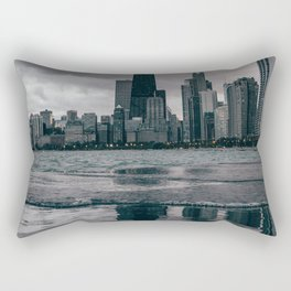 Chicago Black & White Rectangular Pillow