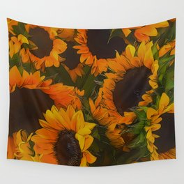 Sunflowers Picked From A Garden Wall Tapestry
