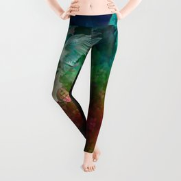 """Owl flight and spring night"" Leggings"