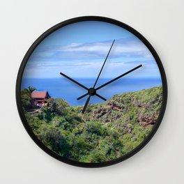 Little House on La Palma Wall Clock