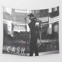johnny depp Wall Tapestries featuring Johnny Cash by Earl of Grey