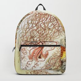 SEA CREATURES COLLAGE-Ernst Haeckel Backpack