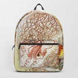 SEA CREATURES COLLAGE-Ernst Haeckel Backpack