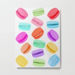 Macaron Rainbow Metal Print