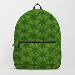 Tiny Green Flowers Pattern Backpack