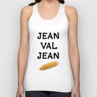 cassandra jean Tank Tops featuring jean val jean by Bread Sports