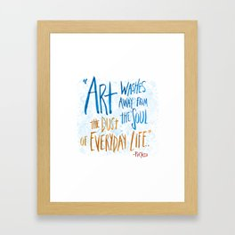 Picasso Quote Framed Art Print