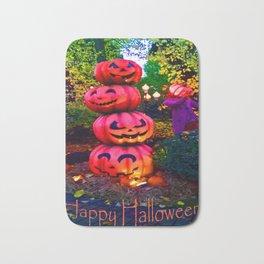 pumpkin stack colour Halloween Bath Mat