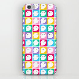 Colourful Little Ghosts iPhone Skin