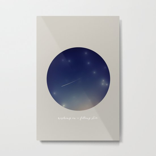 wishing on a falling star Metal Print