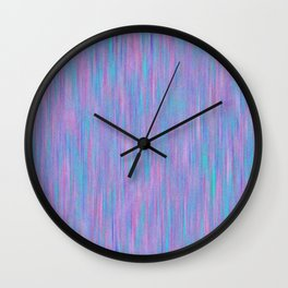 Purple Turquoise Watercolor Wall Clock