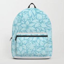Moloaa Bay Hawaiian Hibiscus Aloha Shirt Print Backpack