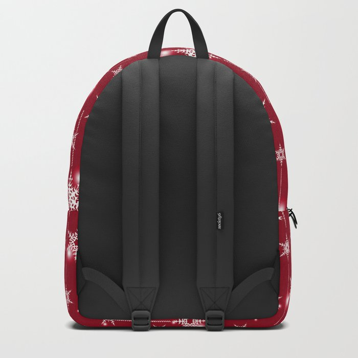Bright Christmas background. Backpack