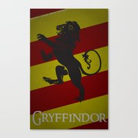 gryffindor Canvas Prints featuring Gryffindor by Fanboy's Canvas