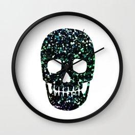 glitter skull Wall Clock