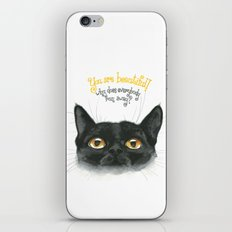 Black - Cat iPhone & iPod Skin