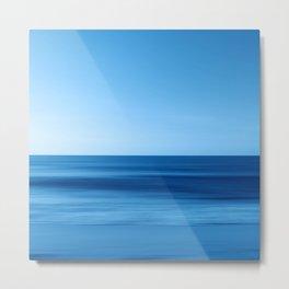SeascapeBlue - horizon Metal Print