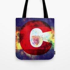 Colorado Flag/Galaxy Print Tote Bag