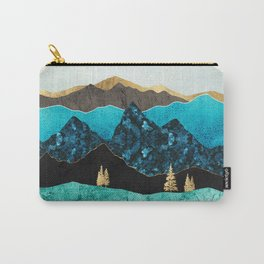 Teal Afternoon Carry-All Pouch