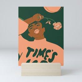 TIME'S UP by Camila Rosa Mini Art Print