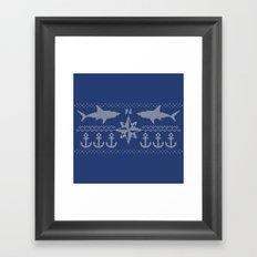 Nerdic (marine pattern) Framed Art Print