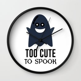 Cute Ghost Ghoul Halloween Design Wall Clock