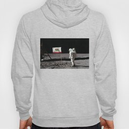 California Republic Flag on the Moon Hoody