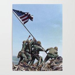 Iwo Jima Color Poster
